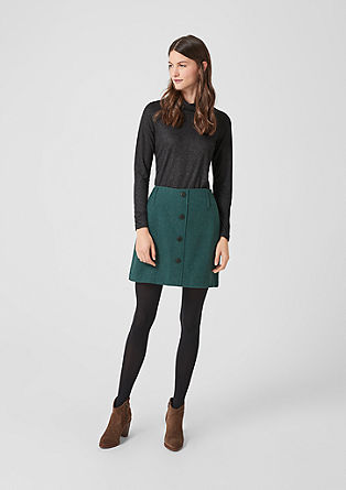 Wool blend mini skirt from s.Oliver