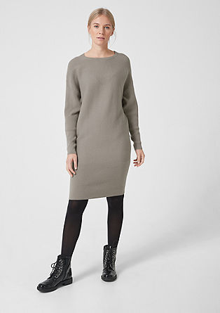 Rib knit V dress from s.Oliver