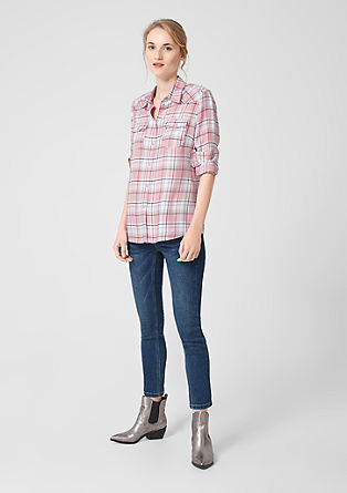 Cowboy-style check blouse from s.Oliver