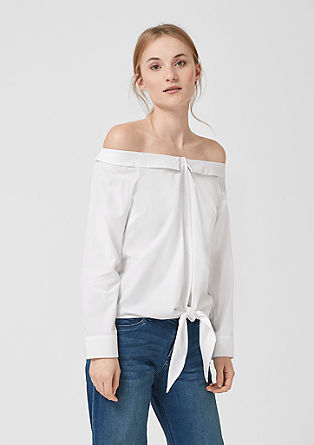 Off-the-shoulder blouse with knotted details from s.Oliver