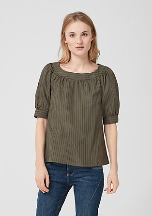 Striped blouse with short sleeves from s.Oliver