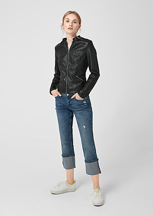 Softe Fake Leather-Jacke