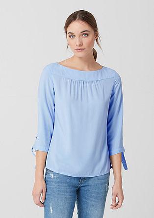 Fijne blouse met strikdetail