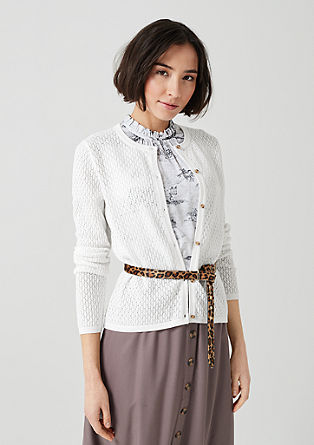Cardigan with an openwork pattern from s.Oliver