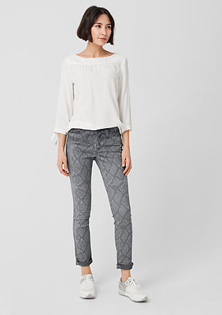 Stretch jeans in a snakeskin look from s.Oliver