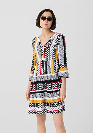 Mixed pattern tunic dress from s.Oliver