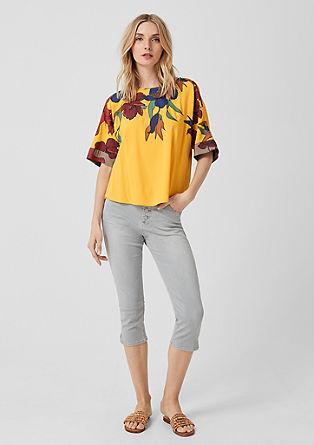 Viscose blouse met florale print