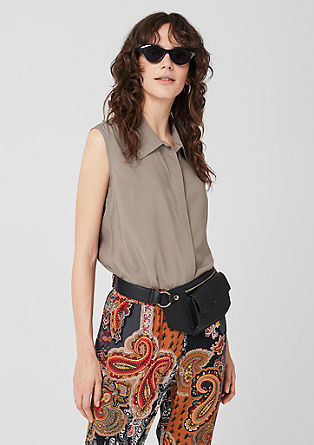 Sleeveless blouse top made of viscose from s.Oliver