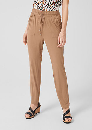 Relaxed fit jersey trousers from s.Oliver
