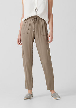 Lightweight viscose cloth trousers from s.Oliver