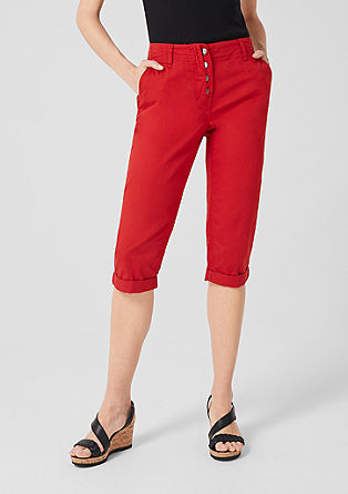 Capri trousers in lightweight cotton from s.Oliver