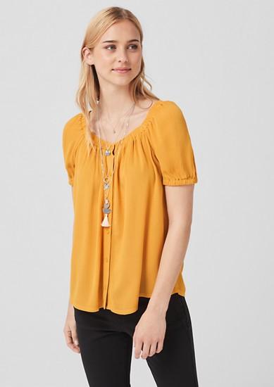 Crêpe-Bluse mit Knöpfen