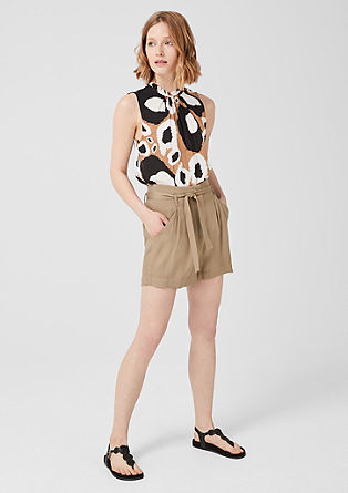 Flowing paperbag shorts from s.Oliver