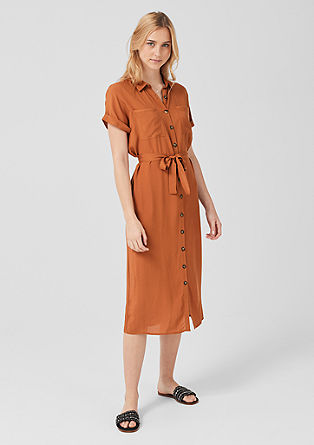 Viscose dress with a button placket from s.Oliver