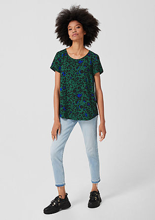 Blouse top with an all-over pattern from s.Oliver
