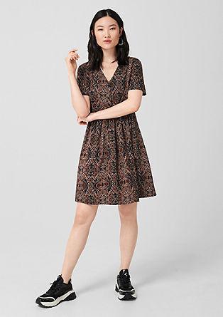 Viscose jurk met print all-over