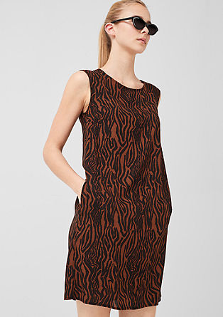 Viscose dress with an all-over print from s.Oliver