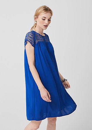 Kleid mit transparenter Spitze