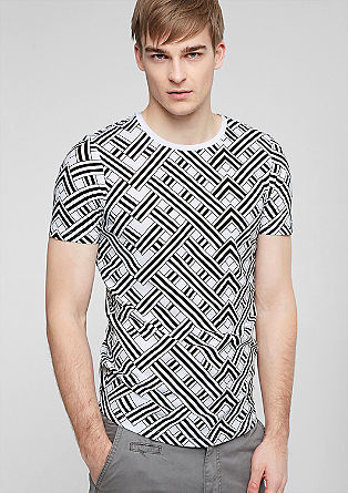 T-shirt with an all-over print from s.Oliver