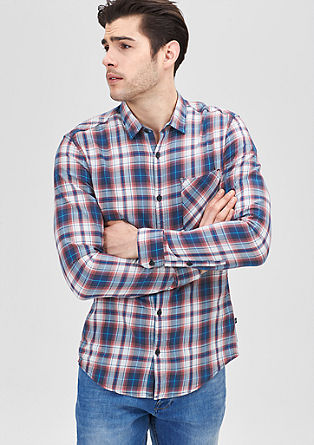 Extra Slim: Colourful check shirt from s.Oliver