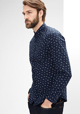 Extra Slim: shirt with an origami pattern from s.Oliver