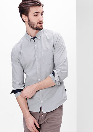 Extra Slim: shirt with fine stripes from s.Oliver