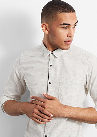 Extra Slim: mottled shirt with a pocket from s.Oliver
