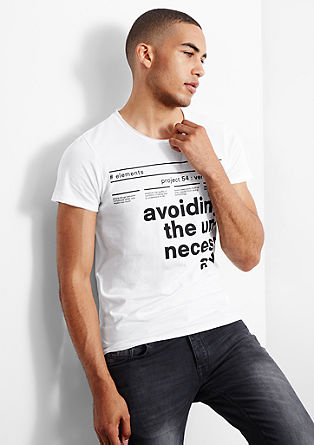Jersey T-shirt with large printed lettering from s.Oliver