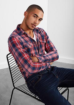 Extra Slim: karirasta srajca, obrabljenega videza