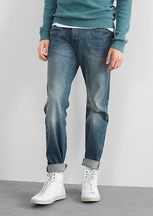 Pete Straight: Robuste Used-Jeans