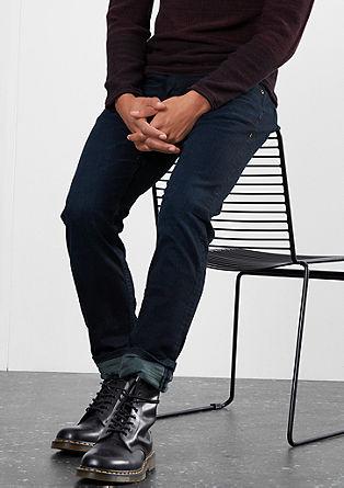 Rick Slim: temne raztegljive jeans hlače