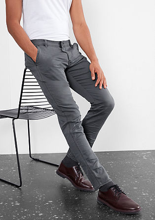 Rick Slim: chinos with a woven pattern from s.Oliver