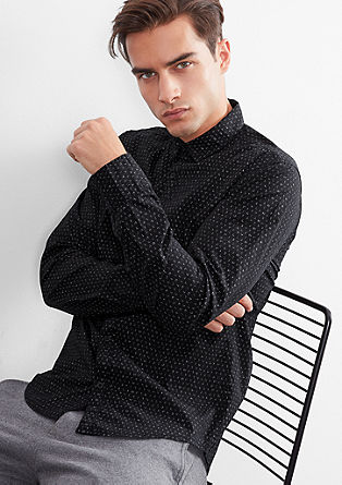 Extra Slim: patterned shirt from s.Oliver