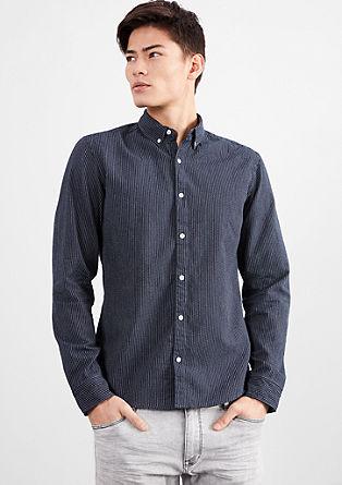 Extra slim: overhemd met fijne strepen