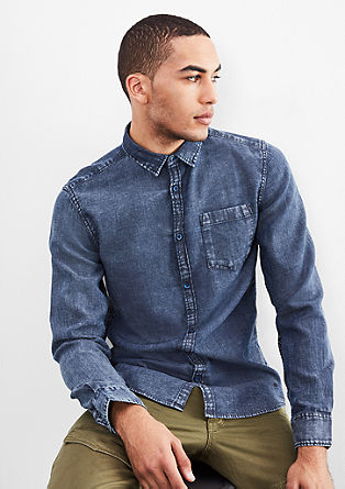 Extra Slim: acid-washed shirt from s.Oliver