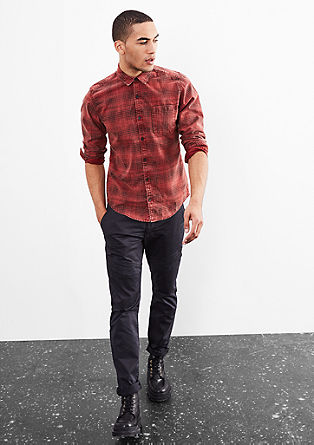 Extra Slim: vintage check shirt from s.Oliver