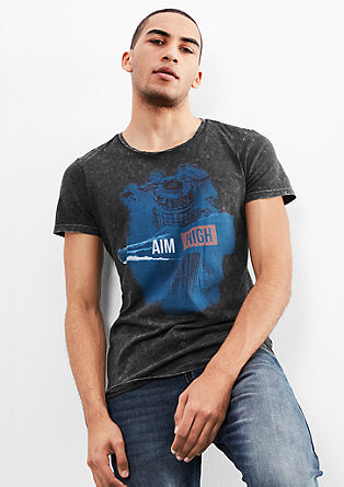 Acid-washed T-shirt from s.Oliver