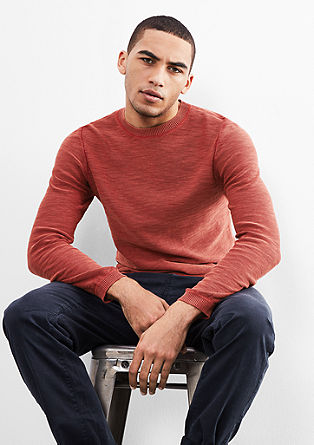 Cotton jumper with a garment-washed effect from s.Oliver