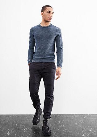 Katoenen trui met garment-washed effect