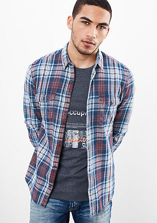 Extra Slim: check cotton shirt from s.Oliver