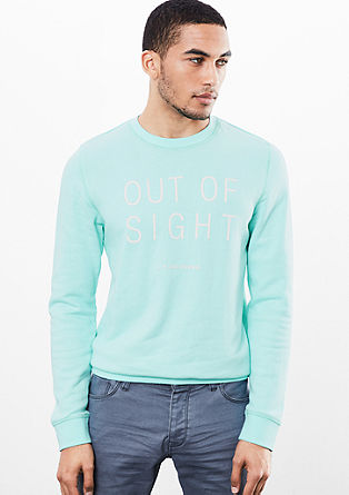 Soft sweatshirt with lettering from s.Oliver