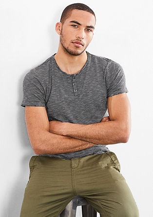 Striped Henley T-shirt from s.Oliver