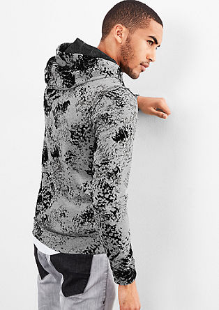 Hoodie with an all-over print from s.Oliver