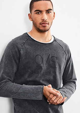 Sweatshirt with a casual wash effect from s.Oliver
