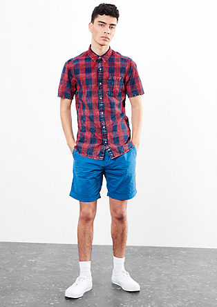 Check shirt in a washed look from s.Oliver