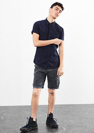Extra Slim: Shirt with a garment-dyed finish from s.Oliver