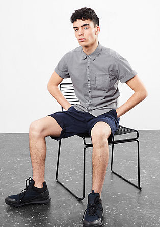 Extra Slim: Hemd in Garment Dye