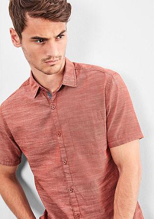 Extra slim: luchtig katoenen overhemd