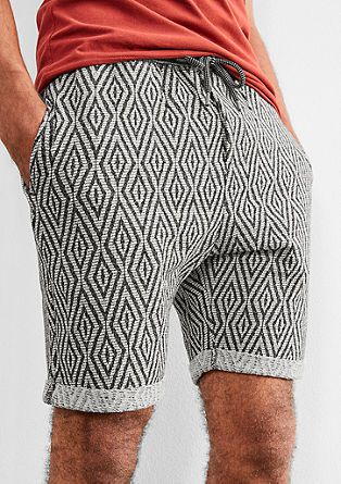 Jacquard short in jogger style