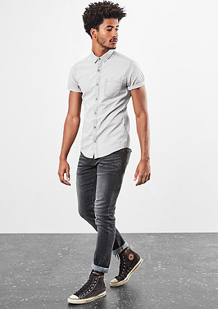Extra Slim: textured shirt from s.Oliver